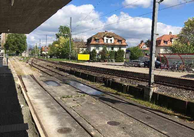 552 Bahnhof Eisenbahnstrasse Gegenfahrtrichtung